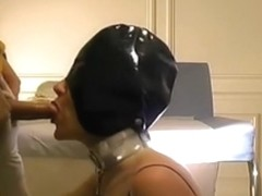 Slave girl facefucked and brutally dildoed up the asss
