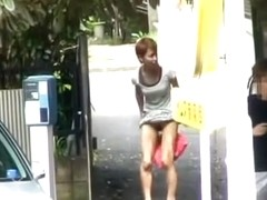 Lady with no panties got sharked in the narrow passage