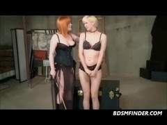Lesbo Drubbing And Belt On