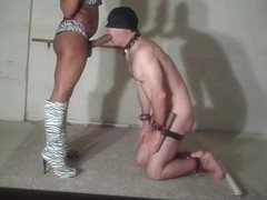 Ebony Strapon bdsm