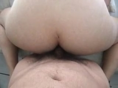 Girl gets eaten out by a girl, while sucking a guy's cock