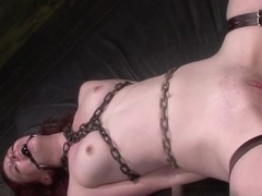 Emma Evins is Fucked Rough, Rides her Master & Earns a Facial in Bondange