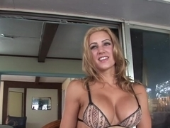 Best pornstar in exotic lingerie, blonde adult clip