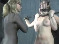 Old S&M Masters Whipping of Handcuffed Thrall