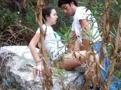 Frolicsome wanton was filmed while was hardly spanked outside