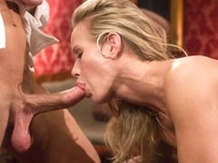 Penny Barber & Bill Bailey & Simone Sonay in Anal Slave Meets The Household, And A Gorgeous Guest .