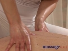 Horny masseuse has a squirting orgasm as she rides client hard