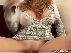 Housewife Gives Oral Job Facial Spunk Flow
