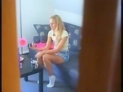 Girlfriend spy  Masturbating