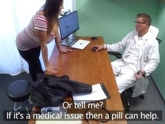 Babe wants cum on her big tits - FakeHospital