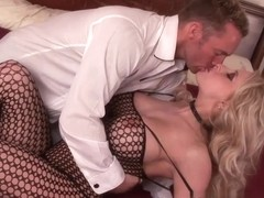 Blonde Bombshell Has Her Hairy Snatch Drilled