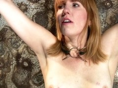 Clothes Pins Are Whipped Off This Sexy Amazons Body. Nasty Crotch Rope Keeps Her Screaming & Cummi.