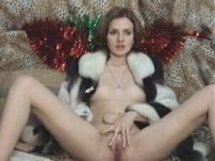 Very sexy babe holiday present