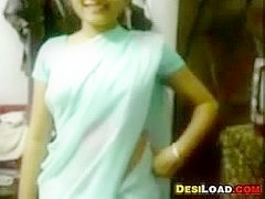 Hairy Indian Housewife Gets Naked