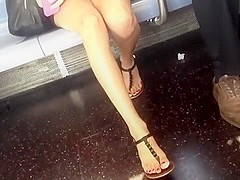 Candid long legs and feet