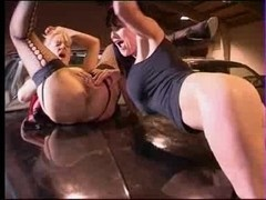 Donna Marie drilled very hard in a Garage
