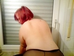 My German big beautiful woman in Dark Stockings