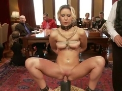 Young Slut Fucked and Tossed Out, and Big Tit Consort Takes Charge