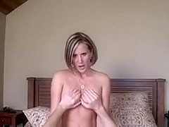 An amateur blonde wife on a sex tape