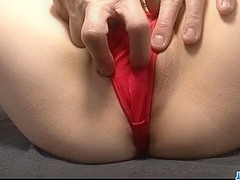 Huwari gets jizz on tits after a smashing fuck