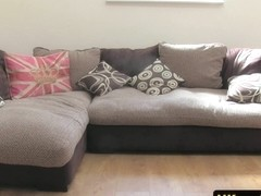 british workplace amateur  rams on audition couch
