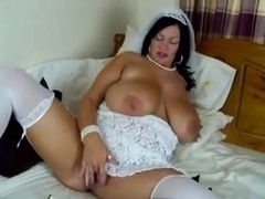 Bridal masturbating Simone