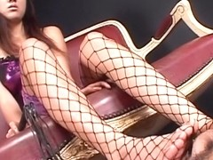 Horny Japanese chick Itsuka in Best JAV uncensored Stockings scene