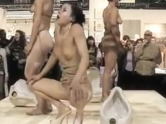 Nude Czech models stage a wild performance art piece