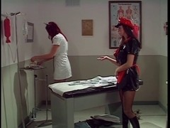 Large scoops oriental administered an cleaning by two smokin' sexy nurses
