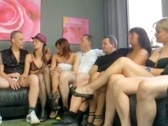 Awesome group fuck action during swinger's party