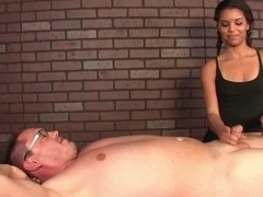 little ebony masseuse wanks client