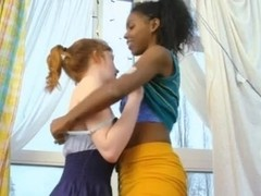 Indian and redhead girl lesbians