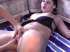 Blonde Finger Blasting Spanish Hottie At A Real Party