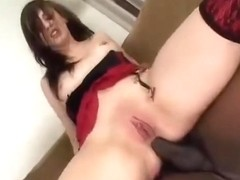 Chick receives an anal creampie from a BBC