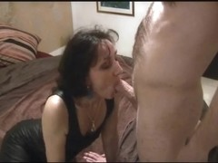 Mature brunette has it her way