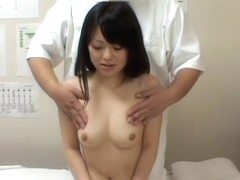 Petite Asian lady gets naughty with her masseur on camera