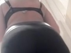 Young cutie with elastic ass was taped on the spy camera
