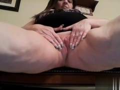 I am toying my snatch in this nasty amateur chubby vid