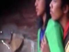 Voyeur tapes an asian couple having sex in an alley