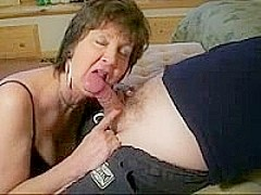 Mature Slut Sucks Neighbors Cock
