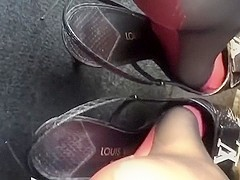 Beautiful pedal play with luxury louis vuitton slingback