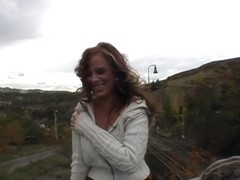 Chic With Huge Tits Fucked On The Bridge