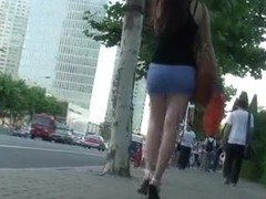 Upskirt candid shots of hot bitches all around the town