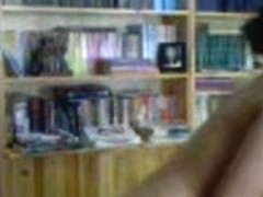 Asian amateur girl gets completely naked in the college's library