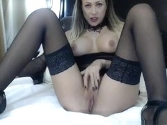 Hot Masturbating MILF in Stockings
