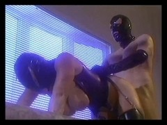 Boy-Friend fucking gal in the leather mask