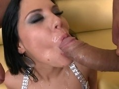 Madison Parker gets gang banged during a wild group sex orgy