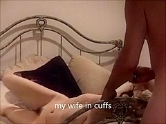Homemade Swinger Cuckold Wife Drilled in Handcuffs