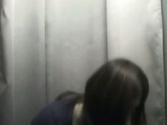 Asiab babe with perfect teen tits in changing room