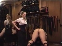 Dominant-Bitch in Nylons Spanks Belts and Canes
